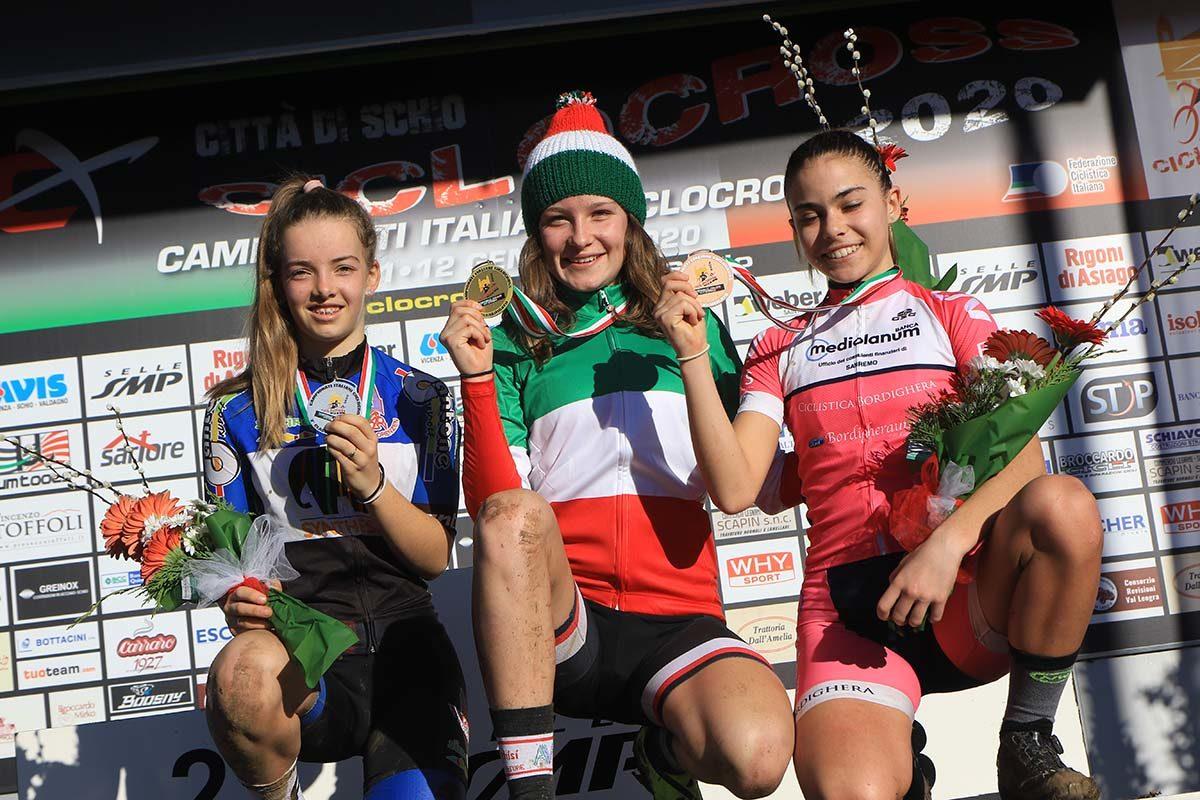 Campionato Italiano di Ciclocross Donne Esordienti 2° anno vinto da Arianna Bianchi (foto Fabiano Ghilardi)