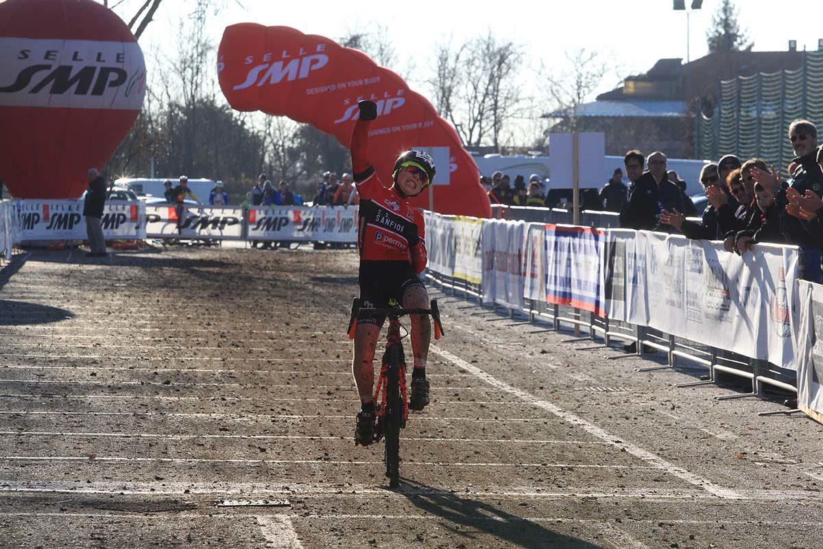 Riccardo Da Rios vince il Campionato Italiano di Ciclocross Esordienti 1° anno a Schio (foto Fabiano Ghilardi)
