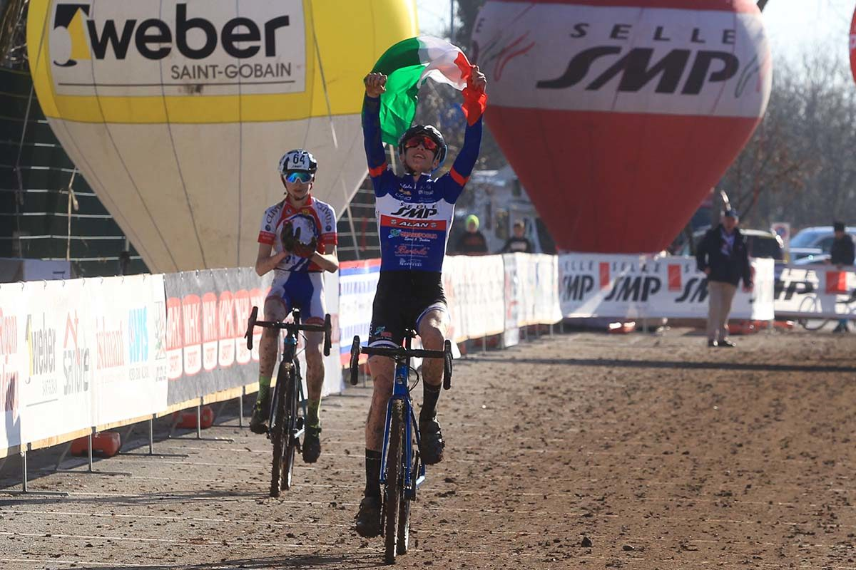 Ettore Prà vince il Campionato Italiano di Ciclocross Allievi 1° anno (foto Fabiano Ghilardi)