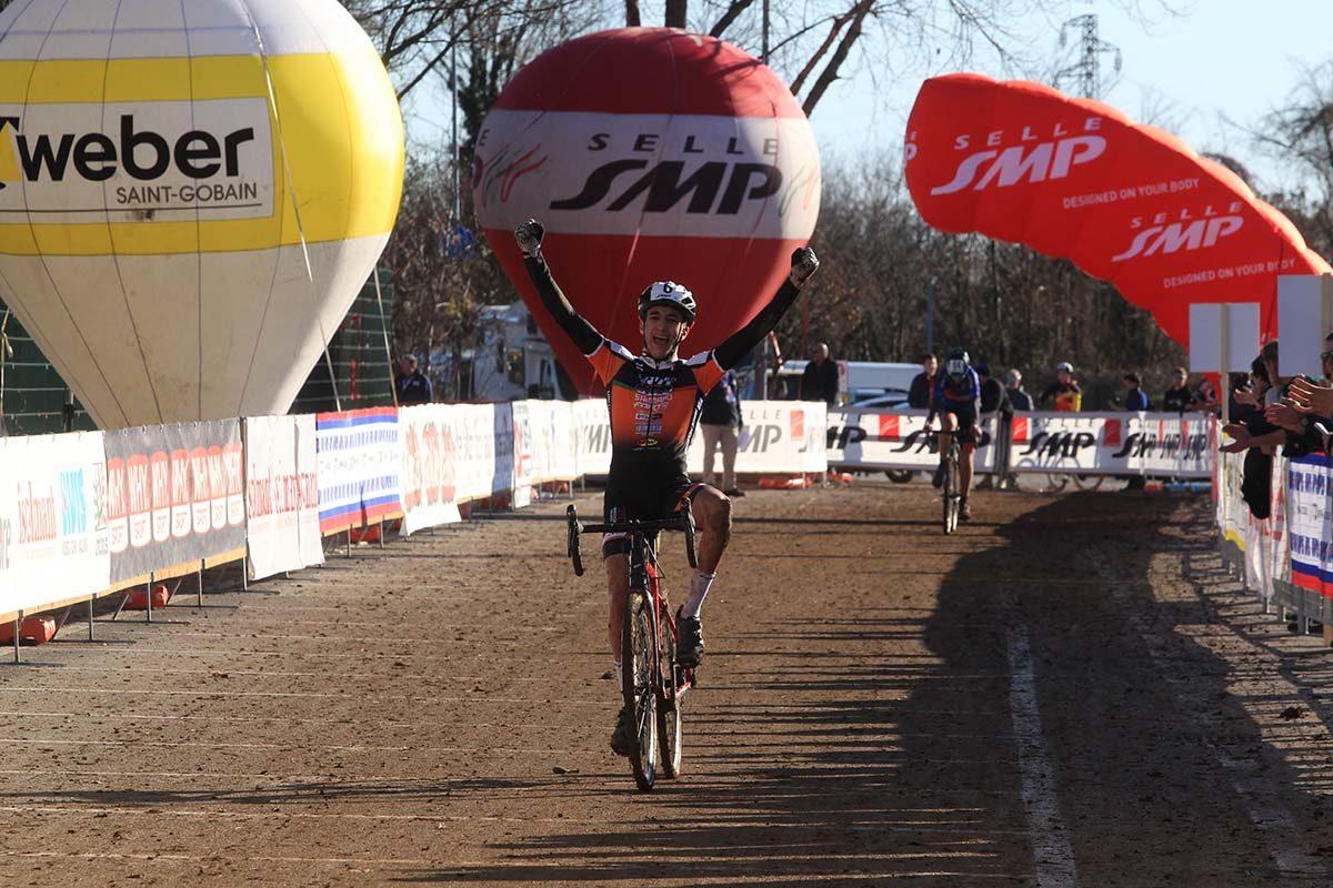 Federico De Paolis vince il Campionato Italiano di Ciclocross Allievi 2° anno (foto Fabiano Ghilardi)