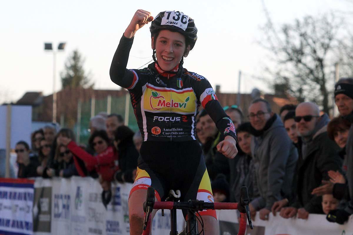 Valentina Corvi vince il Campionato Italiano di Ciclocross Donne Allieve 1° anno (foto Fabiano Ghilardi)