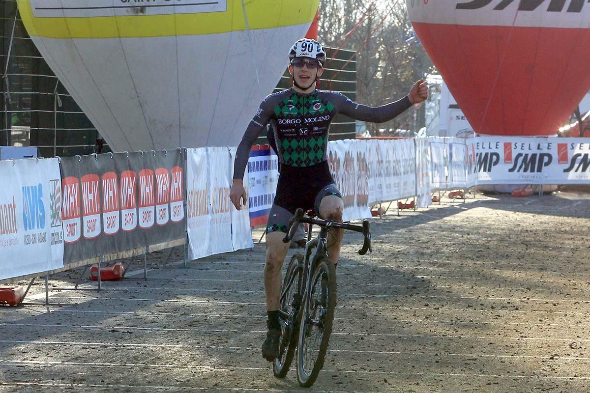 Davide De Pretto vince il Campionato Italiano di Ciclocross Juniores (foto Fabiano Ghilardi)