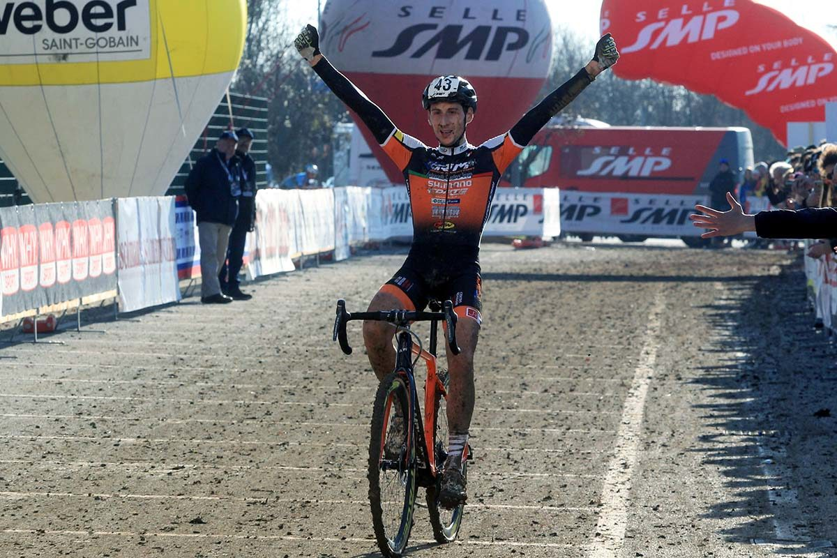 Antonio Folcarelli vince il Campionato Italiano di Ciclocross Under 23 (foto Fabiano Ghilardi)