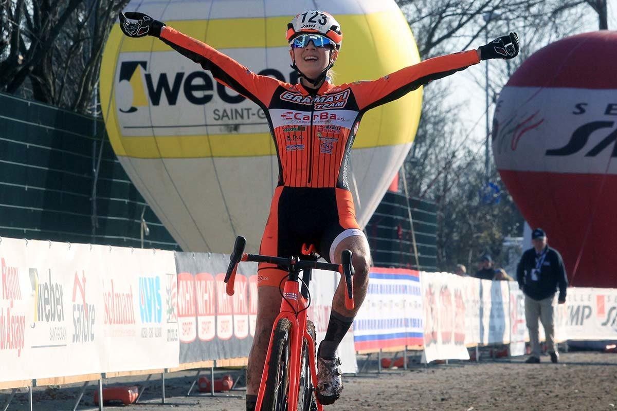 Lucia Bramati vince il Campionato Italiano di Ciclocross Donne Junior (foto Fabiano Ghilardi)
