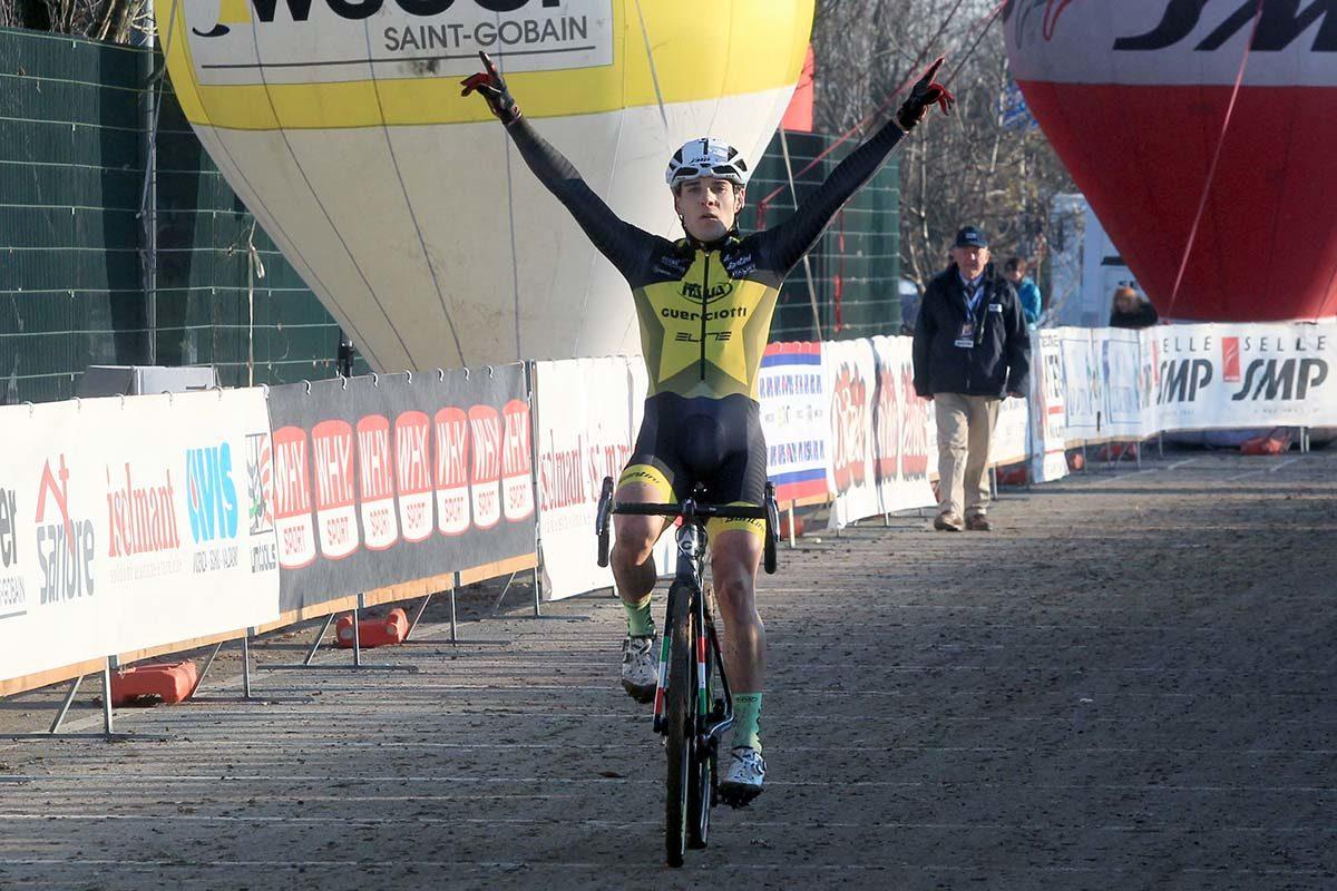 Jakob Dorigoni vince il Campionato Italiano di Ciclocross Elite a Schio (foto Fabiano Ghilardi)