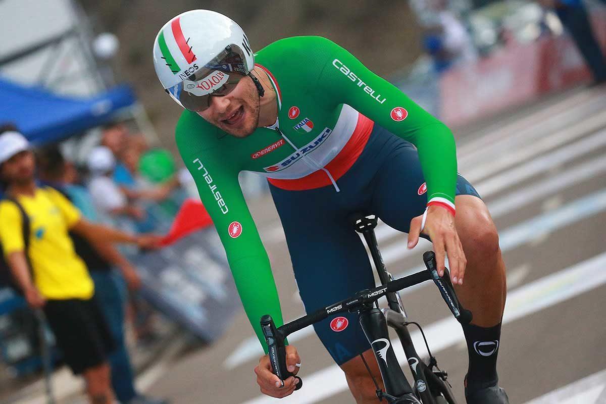 Filippo Ganna secondo nella terza tappa a cronometro della Vuelta a San Juan (foto Ilario Biondi/BettiniPhoto)