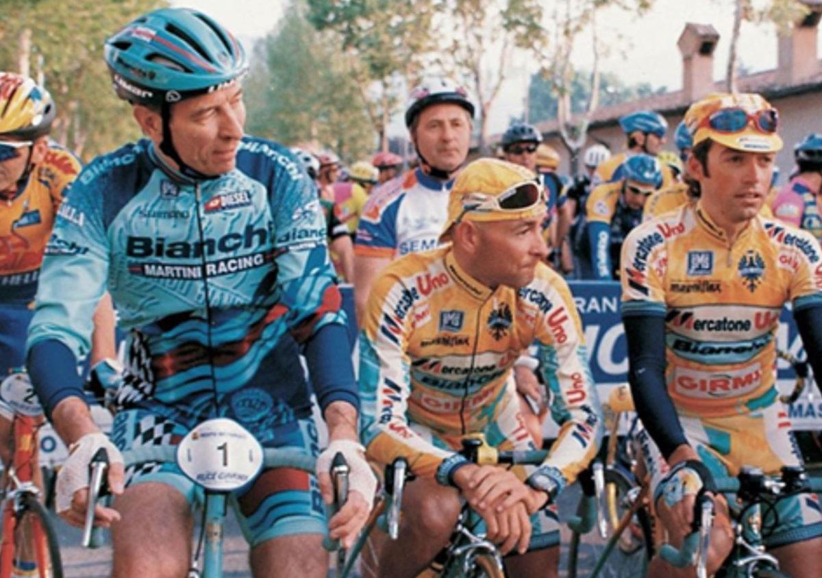 Felice Gimondi e Marco Pantani, vestono Santini alla Granfondo Felice Gimondi di Bergamo