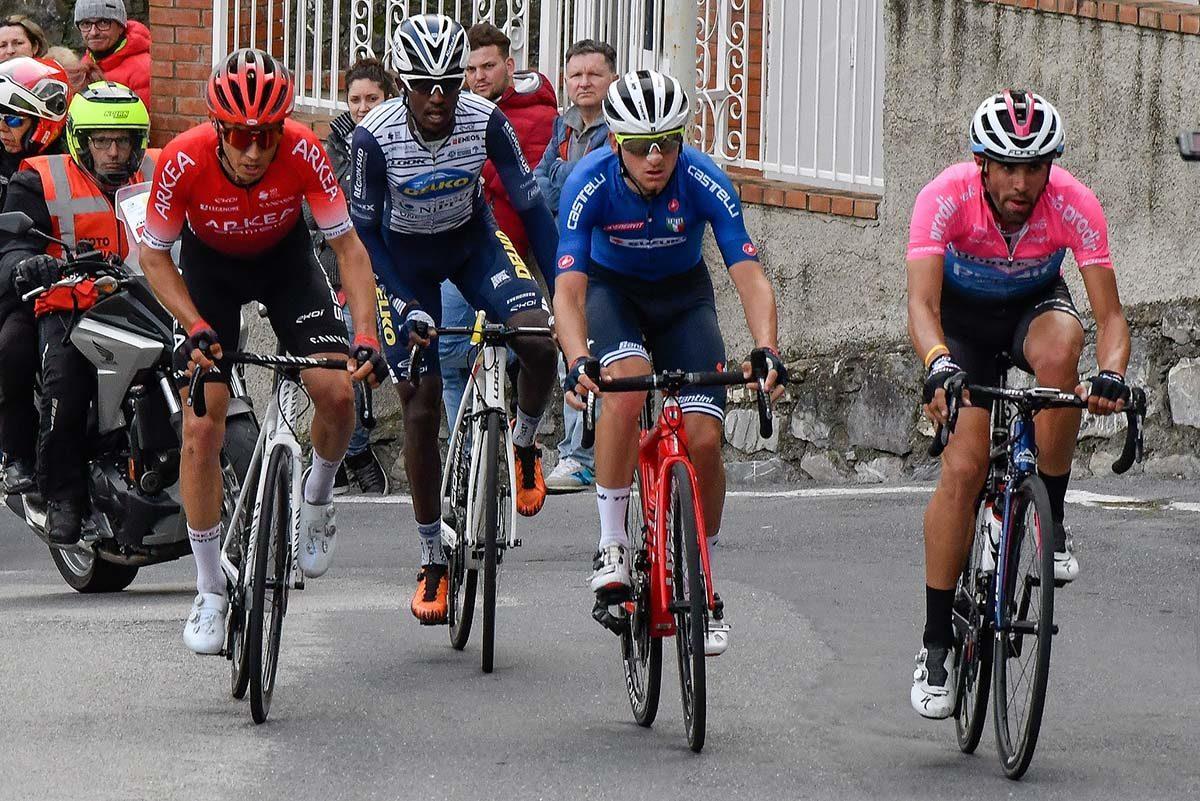 I quattro della fuga decisiva del Trofeo Laigueglia 2020 (foto BettiniPhoto)