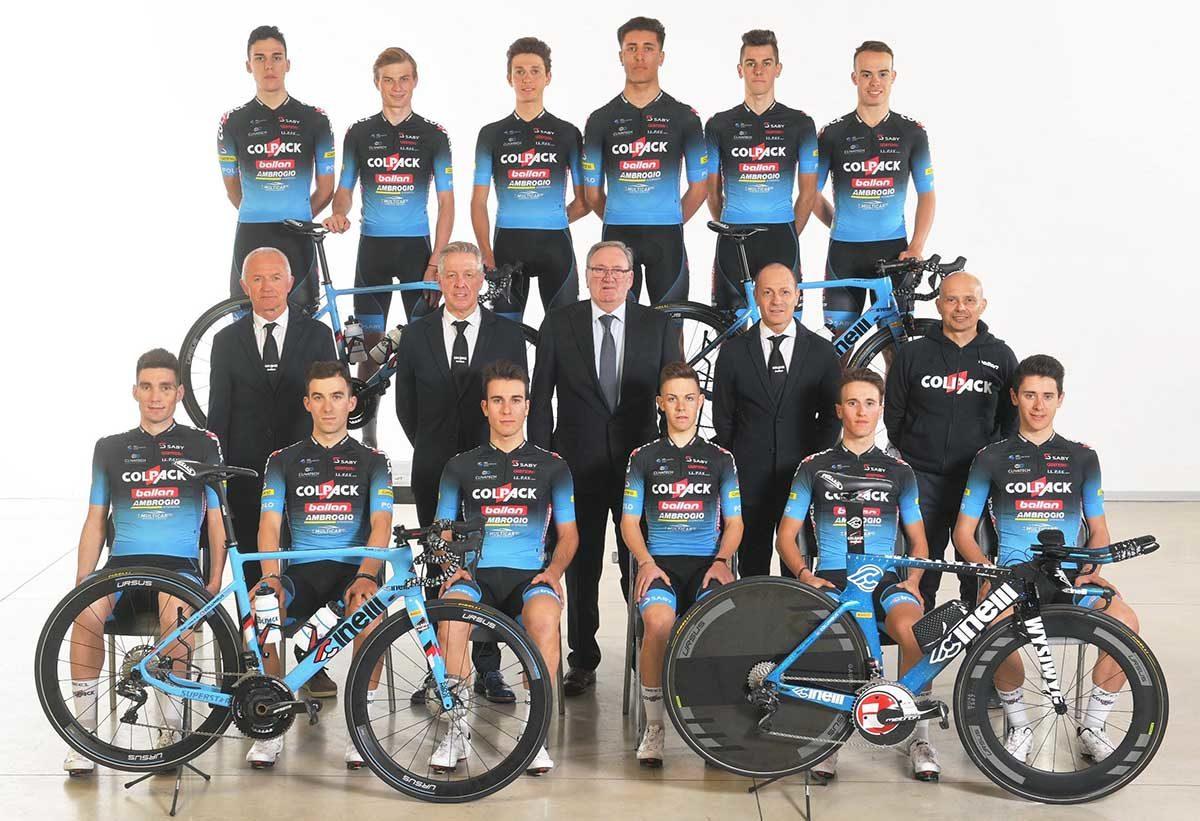 La squadra Continental del Team Colpack Ballan 2020