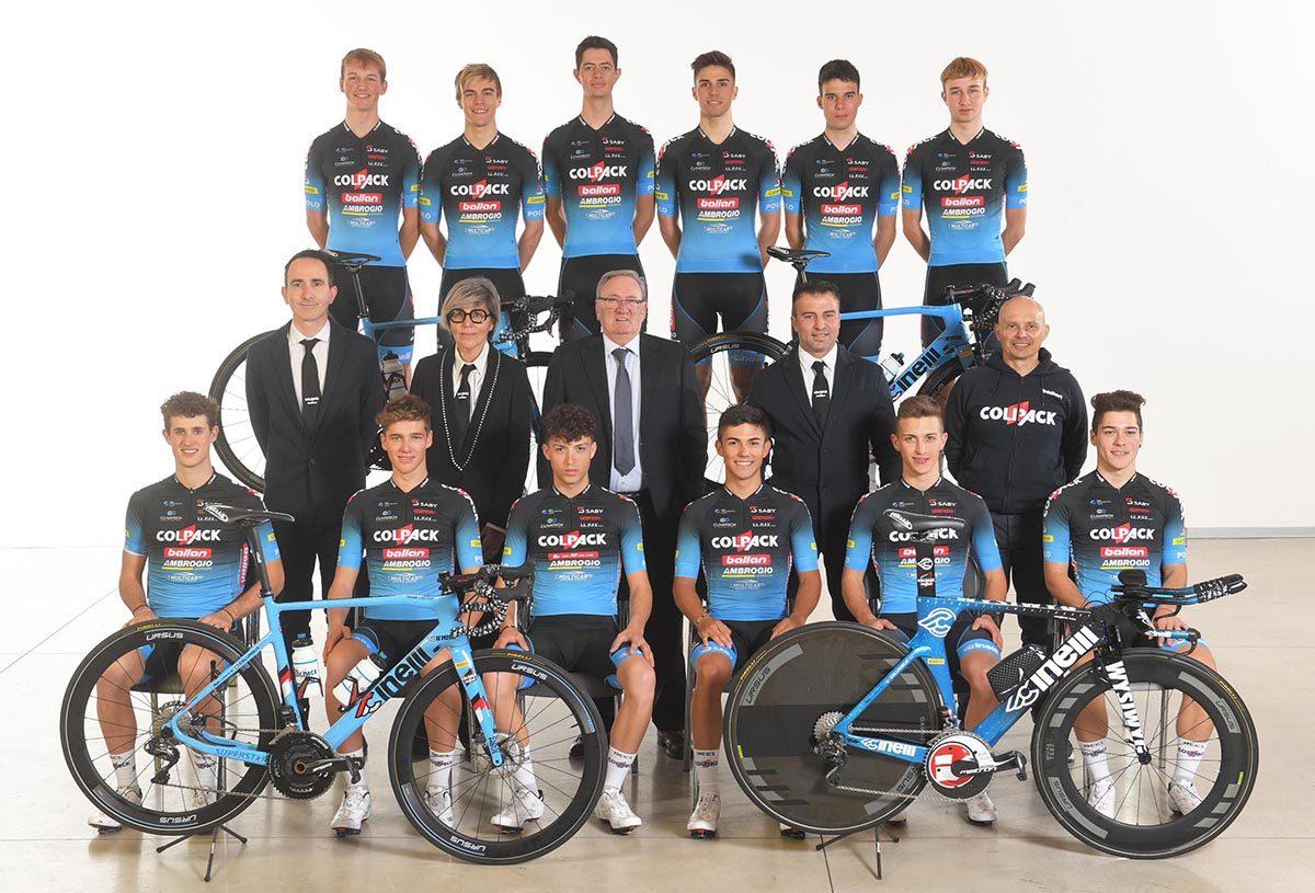 La squadra Under 23 del Team Colpack Ballan 2020