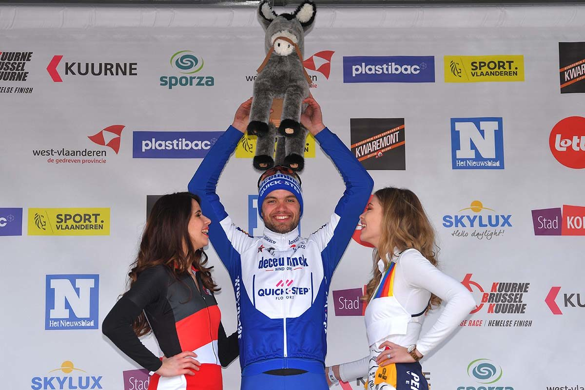 Kasper Asgeem vincitore della Kuurne-Bruxelles-Kuurne 2020 (foto Tim de Waele/Getty Images)