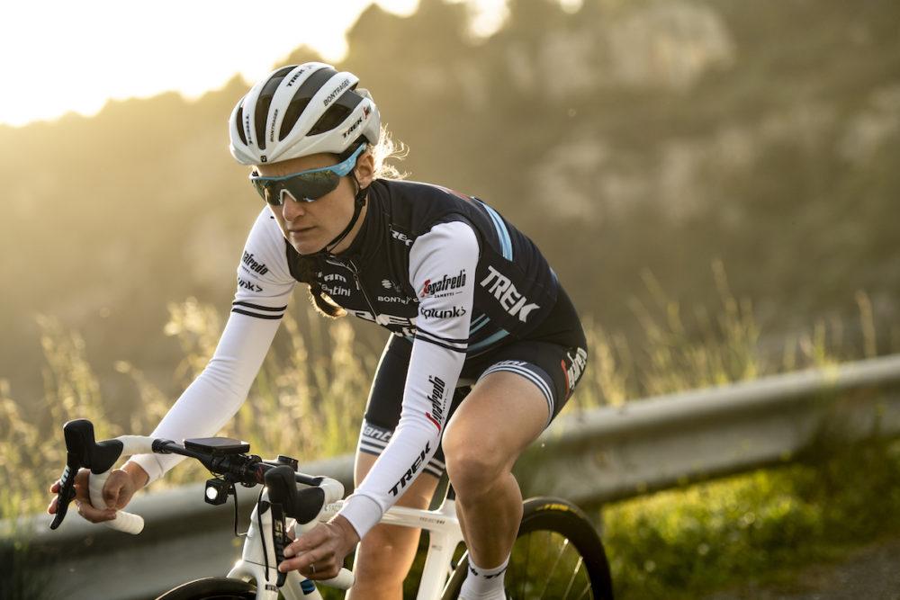 Lizzie Deignan durante il training camp in Sicilia (foto Trek-Segafredo)