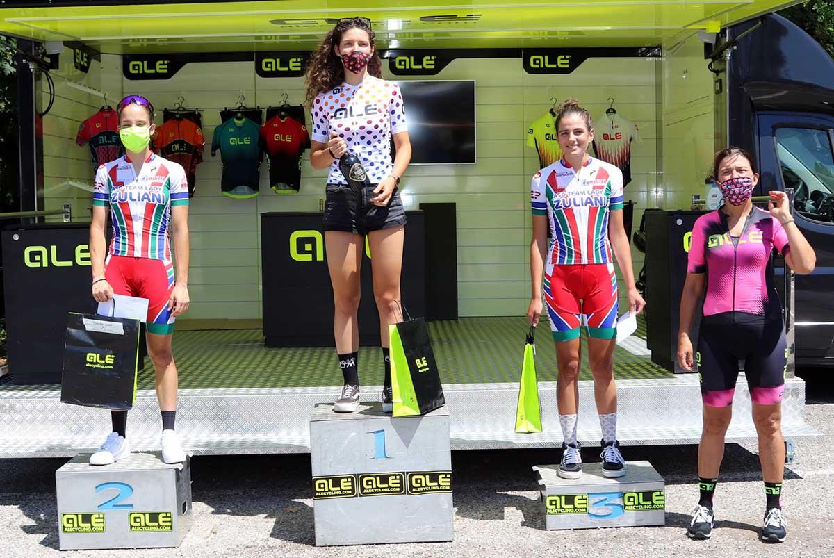 Il podio Donne Junior della Cronoscalata della Pendola Alé (foto Photobicicailotto)