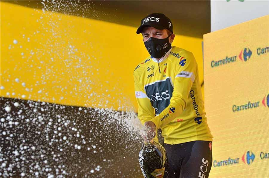 Richard_Carapaz vince la terza tappa e diventa leader del Tour de Pologne 2020 (foto Szymon Gruchalski)