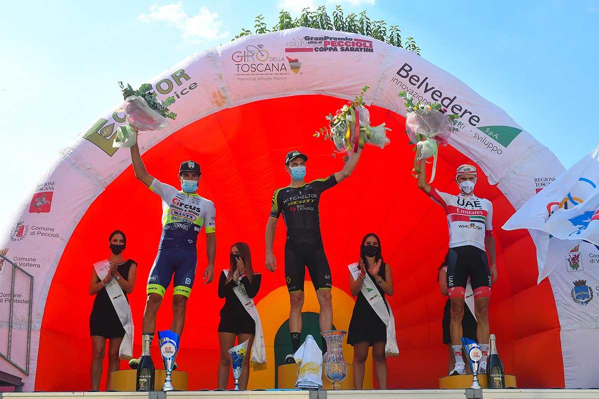 Il podio della Coppa Sabatini 2020 (foto BettiniPhoto)
