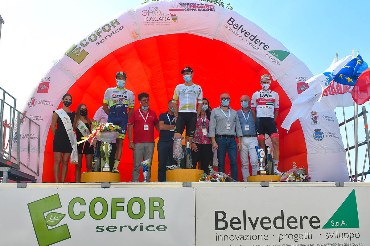Il podio della Challenge Alfredo Martini 2020 (foto BettiniPhoto)
