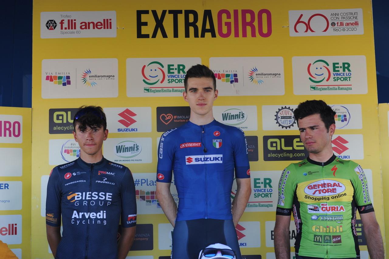 Il podio Elite e U23 del Trofeo F.lli Anelli 2020  a  Sant'Ermete (foto Zannoni)