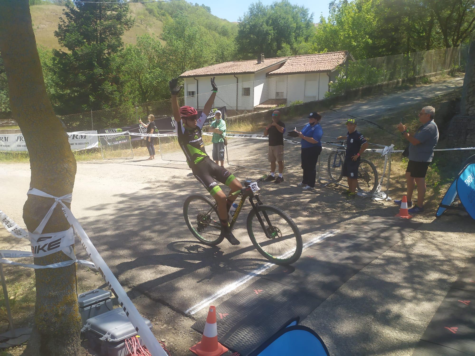 Giorgio Tombini primo tra gli Juniores a Riolo Terme