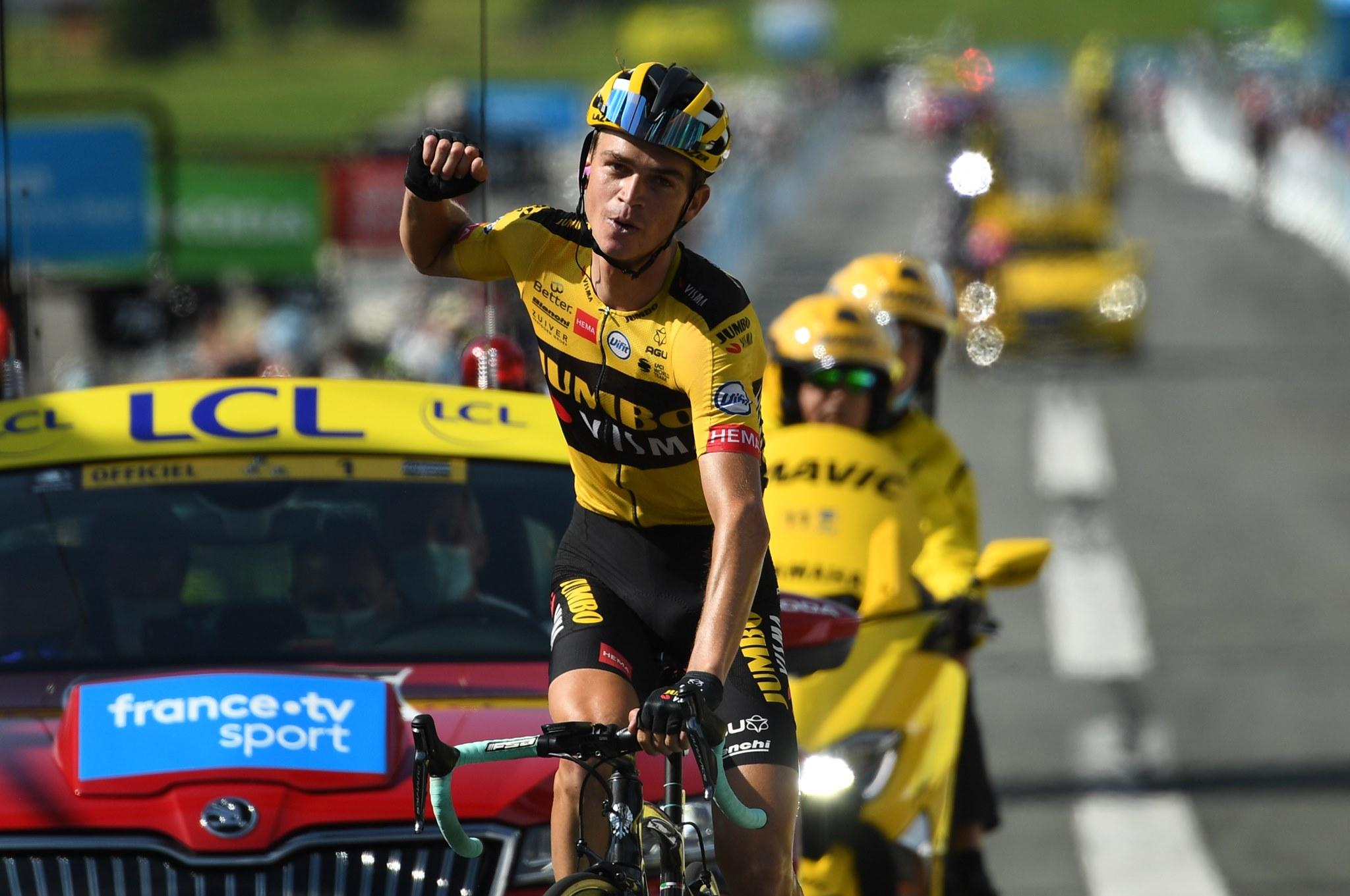 Sepp Kuss vince l'ultima tappa del Critérium du Dauphiné 2020 (foto A.S.O. / Alex Broadway)