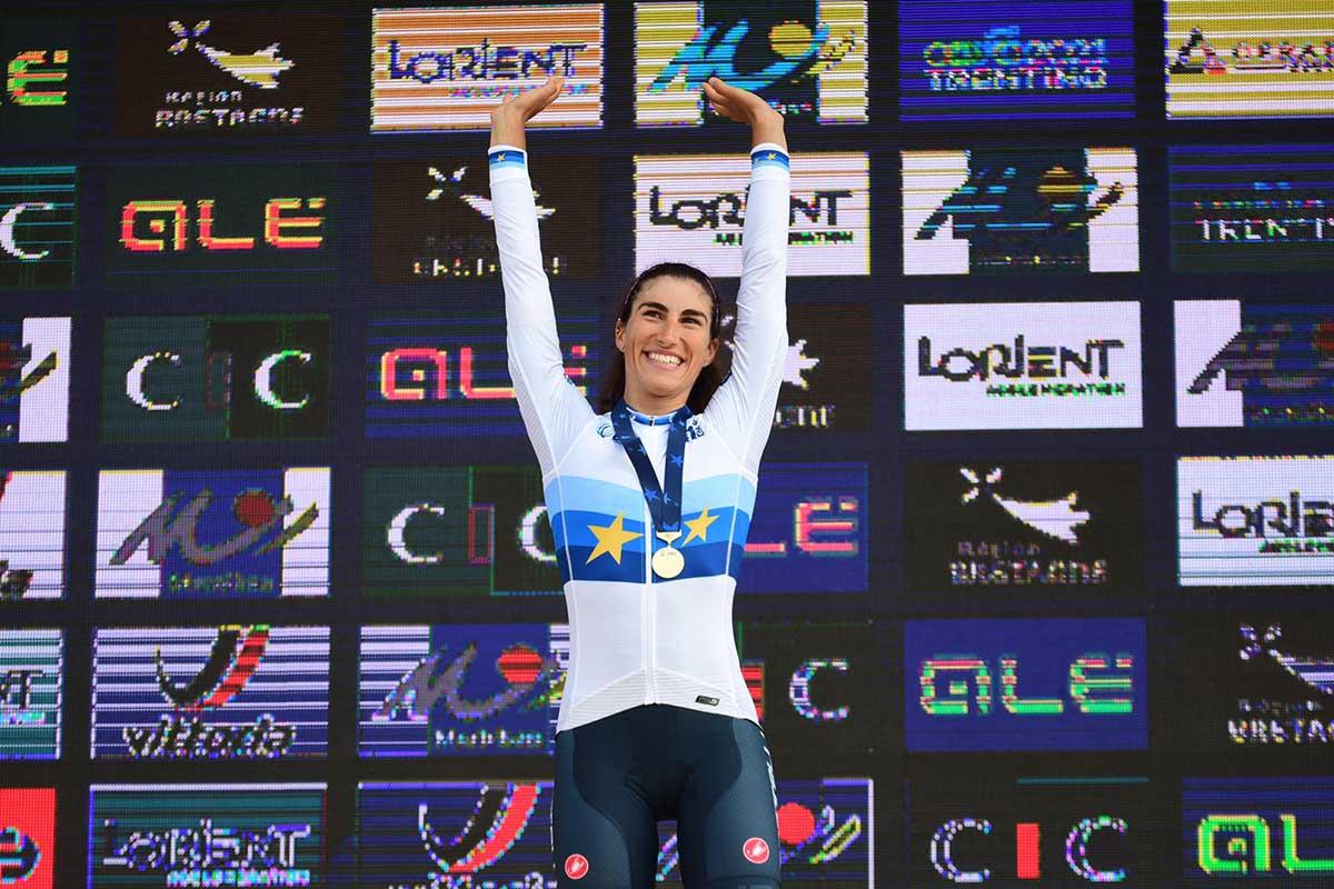 Elisa Balsamo campionessa europea Donne U23 a Plouay 2020 (foto Twila Muzzi)