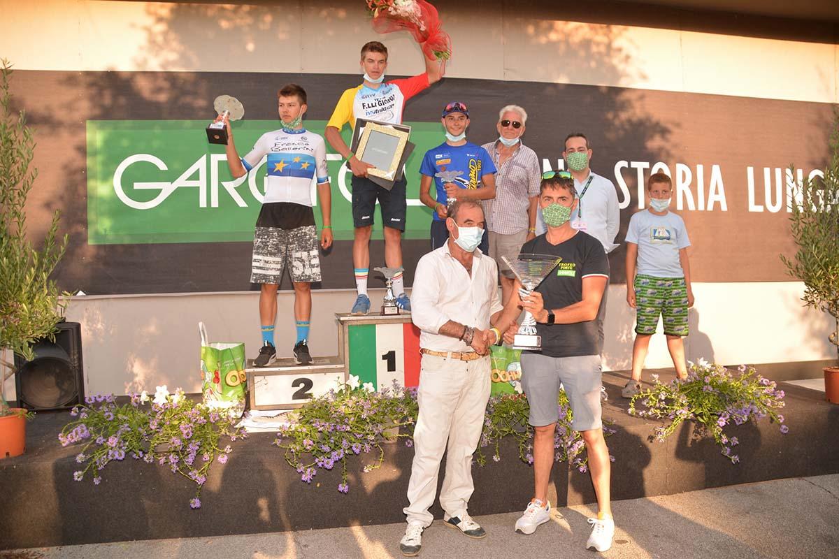 Il podio del Trofeo Garofoli Porte 2020 (foto Lanfranco Passarini)