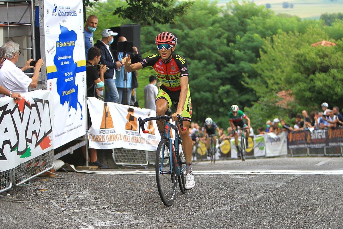 Francesco Calì vince la terza e ultima tappa del Giro del Friuli Juniores 2020 (foto Bolgan)