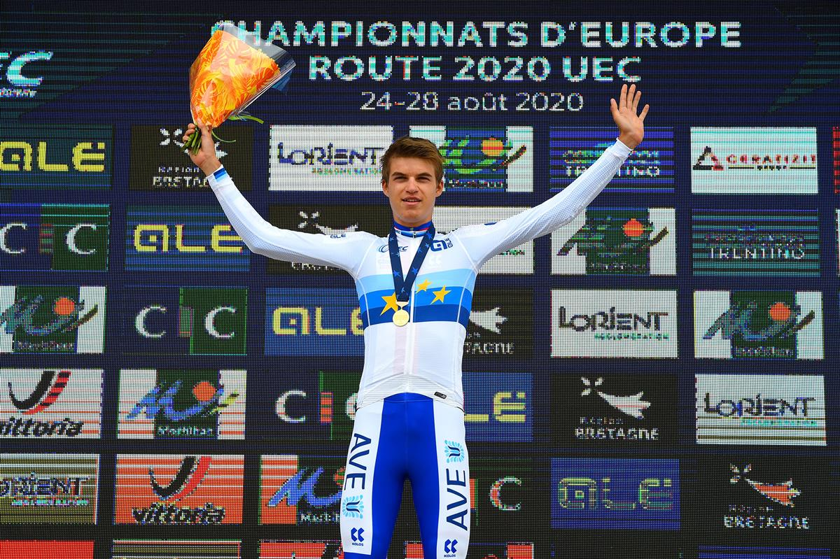 Mathias Vacek campione europeo a cronometro Juniores 2020 (foto BettiniPhoto)