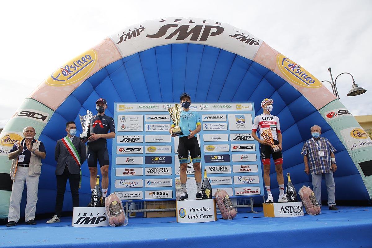 Il podio del Memorial Marco Pantani 2020 (foto BettiniPhoto)