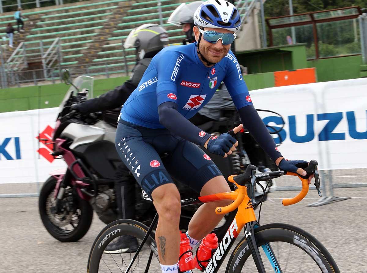 Damiano Caruso, decimo, è il migliore degli azzurri a Imola2020 (foto Photobicicailotto)