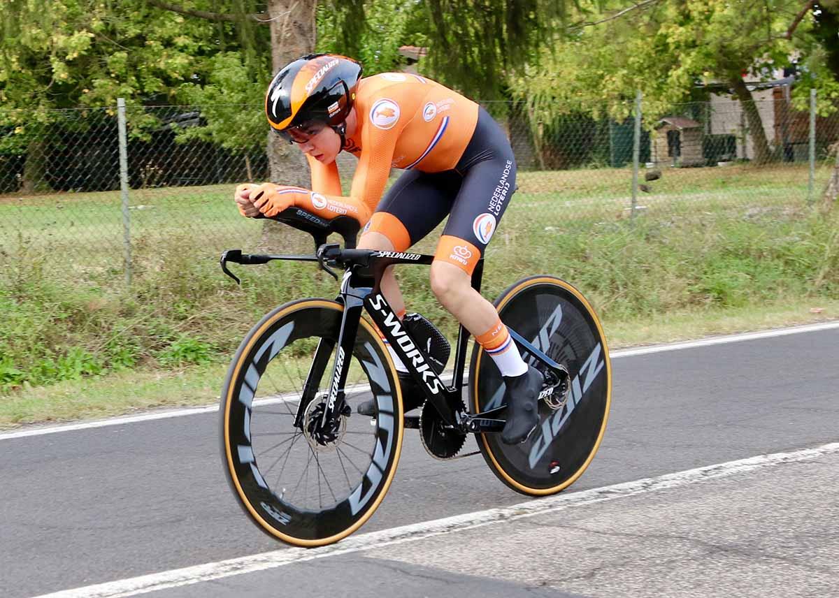 Anna van der Breggen vincitrice del Mondiale a cronometro Donne Elite di Imola 2020 (foto Photobicicailotto)