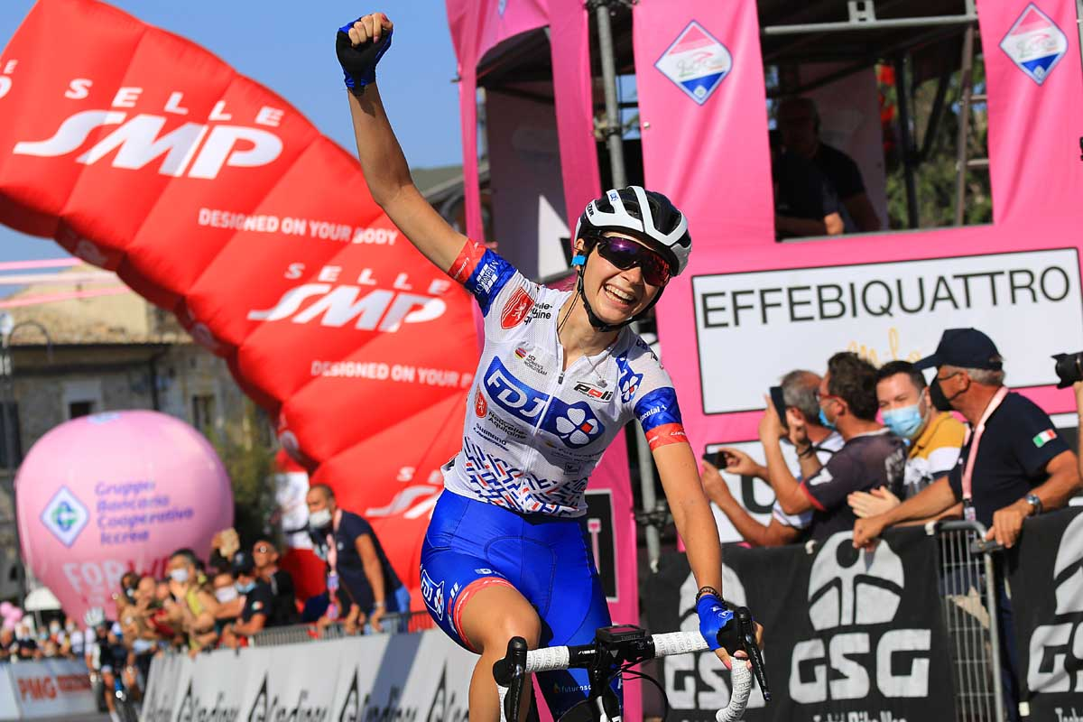 Evita Muzic vince la nona e ultima tappa del Giro Rosa 2020 (foto F. Ossola)