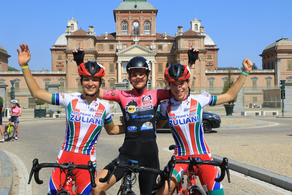 Il podio Donne Junior di Racconigi (foto Fabiano Ghilardi)