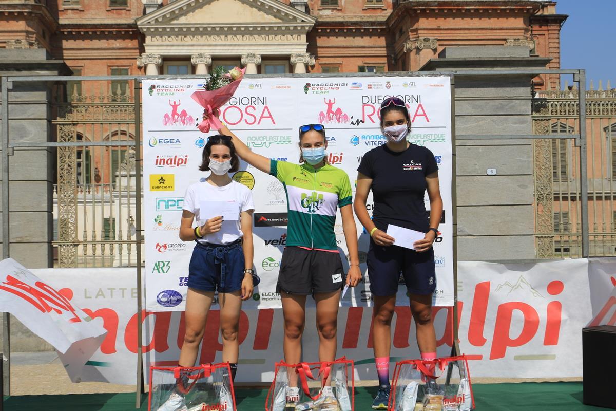 Il podio Donne Junior della Challenge di Racconigi (foto Fabiano Ghilardi)