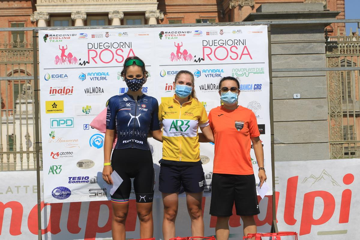 Il podio Donne Elite della Challenge di Racconigi (foto Fabiano Ghilardi)