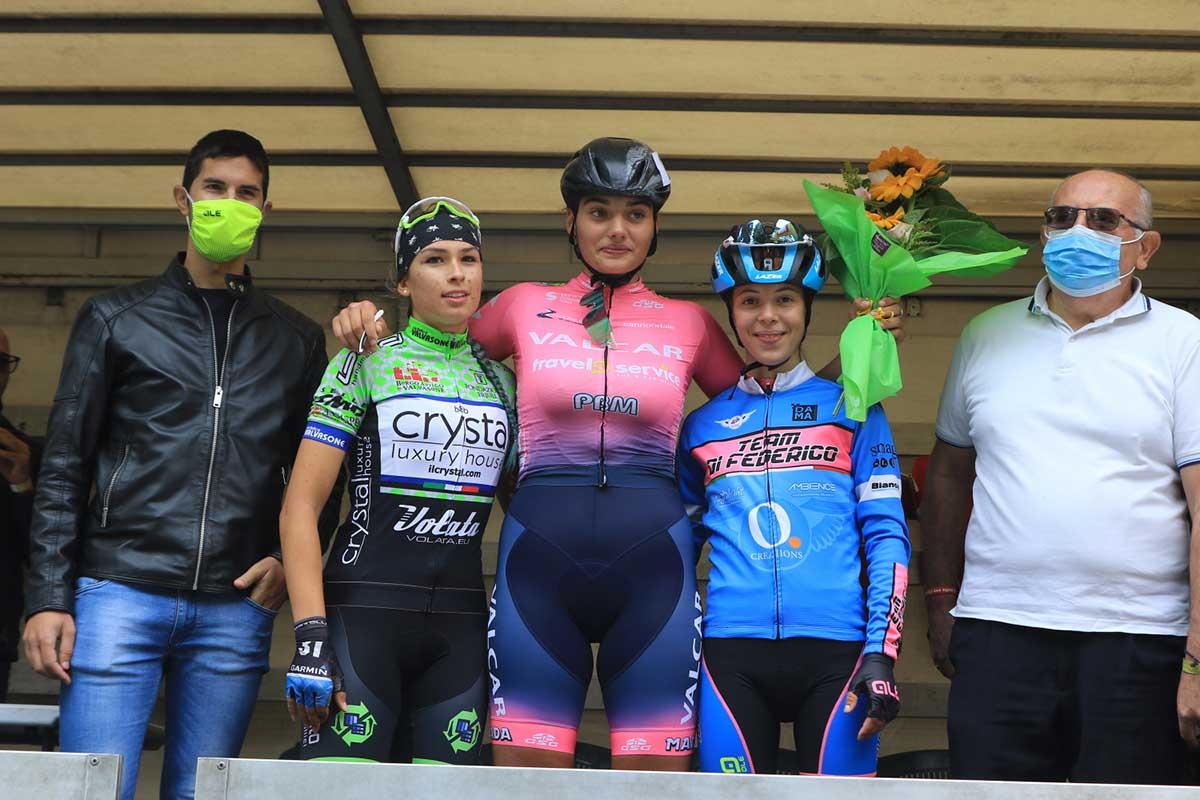 Il podio della gara Donne Allieve di Vo' Vecchio (foto Fabiano Ghilardi)