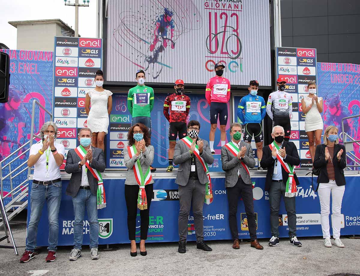 Tutte le maglie dopo la quinta tappa del Giro d'Italia U23