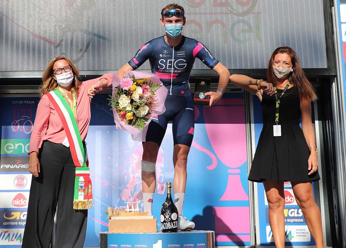Jordi Meeus vincitore della sesta tappa del Giro d'Italia Under 23 2020