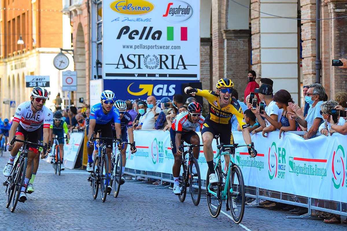 Pascal Eenkhoorn vince la quarta tappa della Settimana Coppi e Bartali 2020 (foto BettiniPhoto)