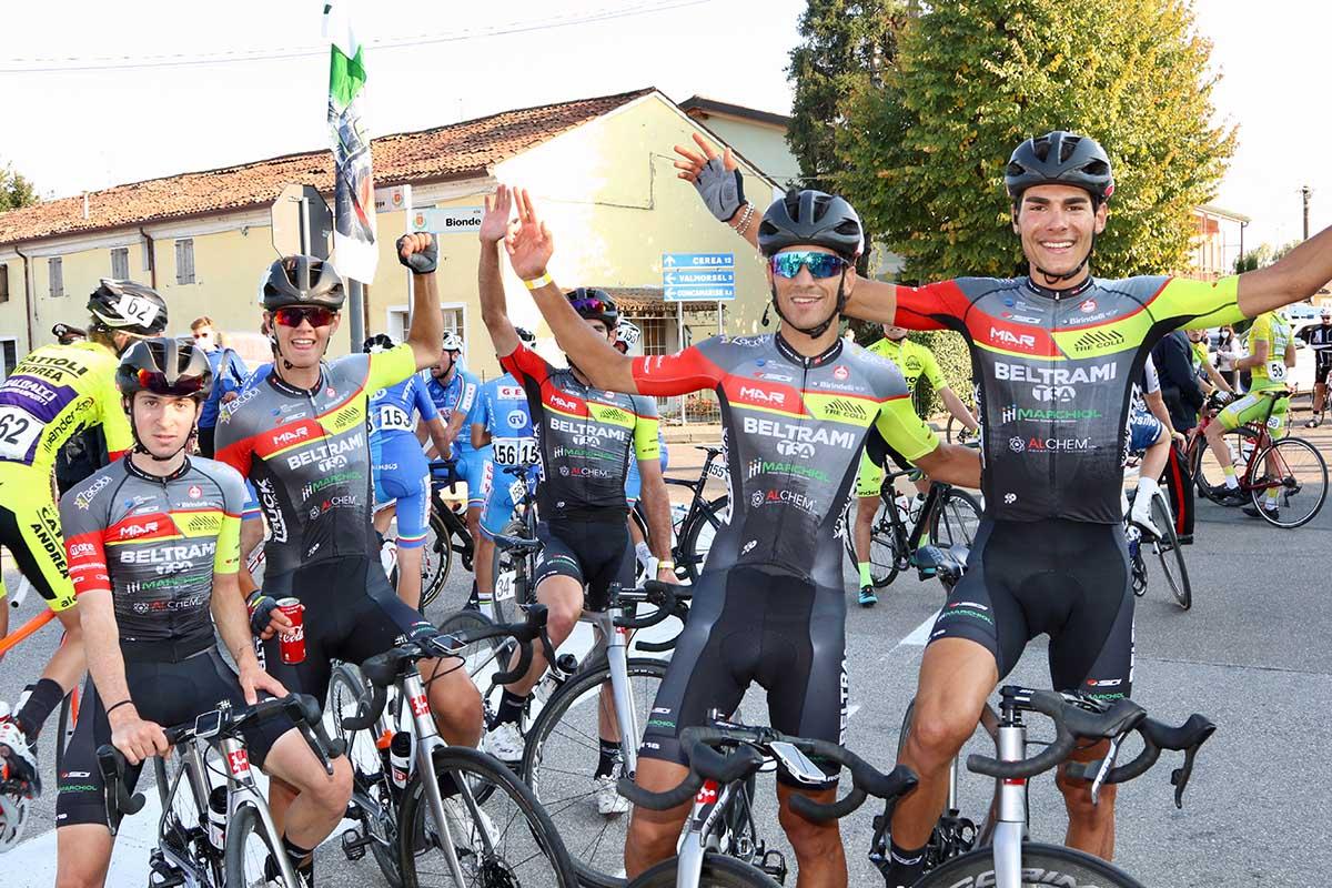 Festa del team Beltrami alla Vicenza-Bionde 2020 (foto Photobicicailotto)