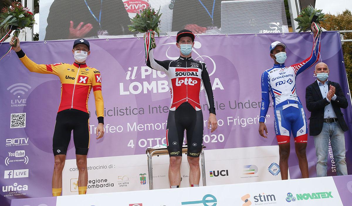 Il podio del Piccolo Lombardia 2020 (foto Soncini)