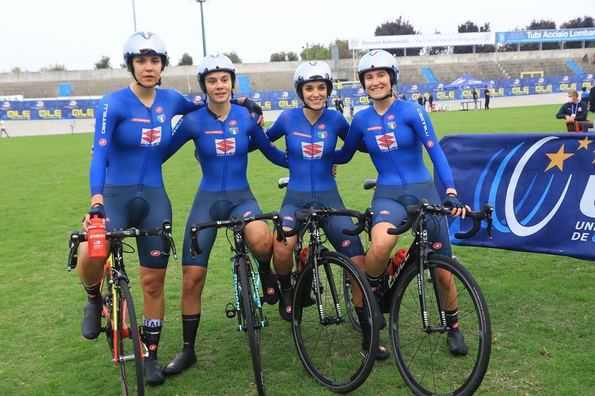 Il quartetto azzurro Donne Junior si prende l'argento europeo (foto Fabiano Ghilardi)