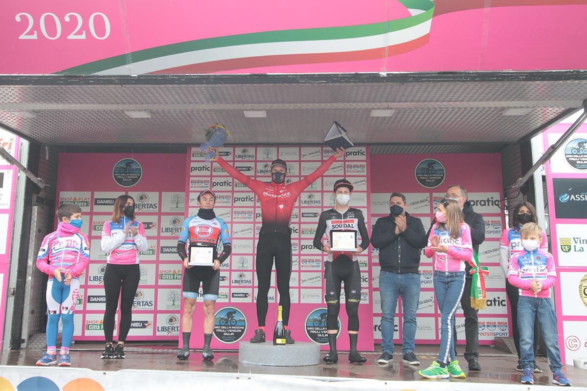 Il podio della quarta tappa del Giro del Friuli 2020 (foto Bolgan)