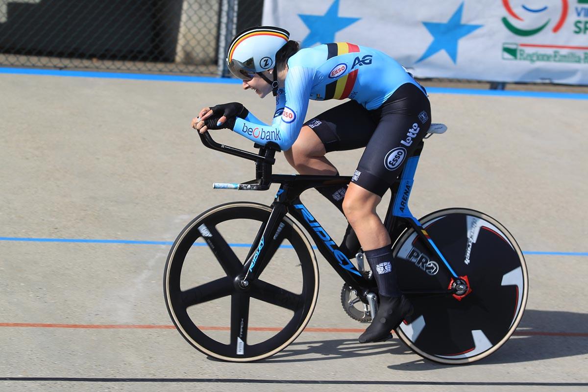 Marith Vanhove vince l'Europeo 500 mt Donne Junior (foto Fabiano Ghilardi)