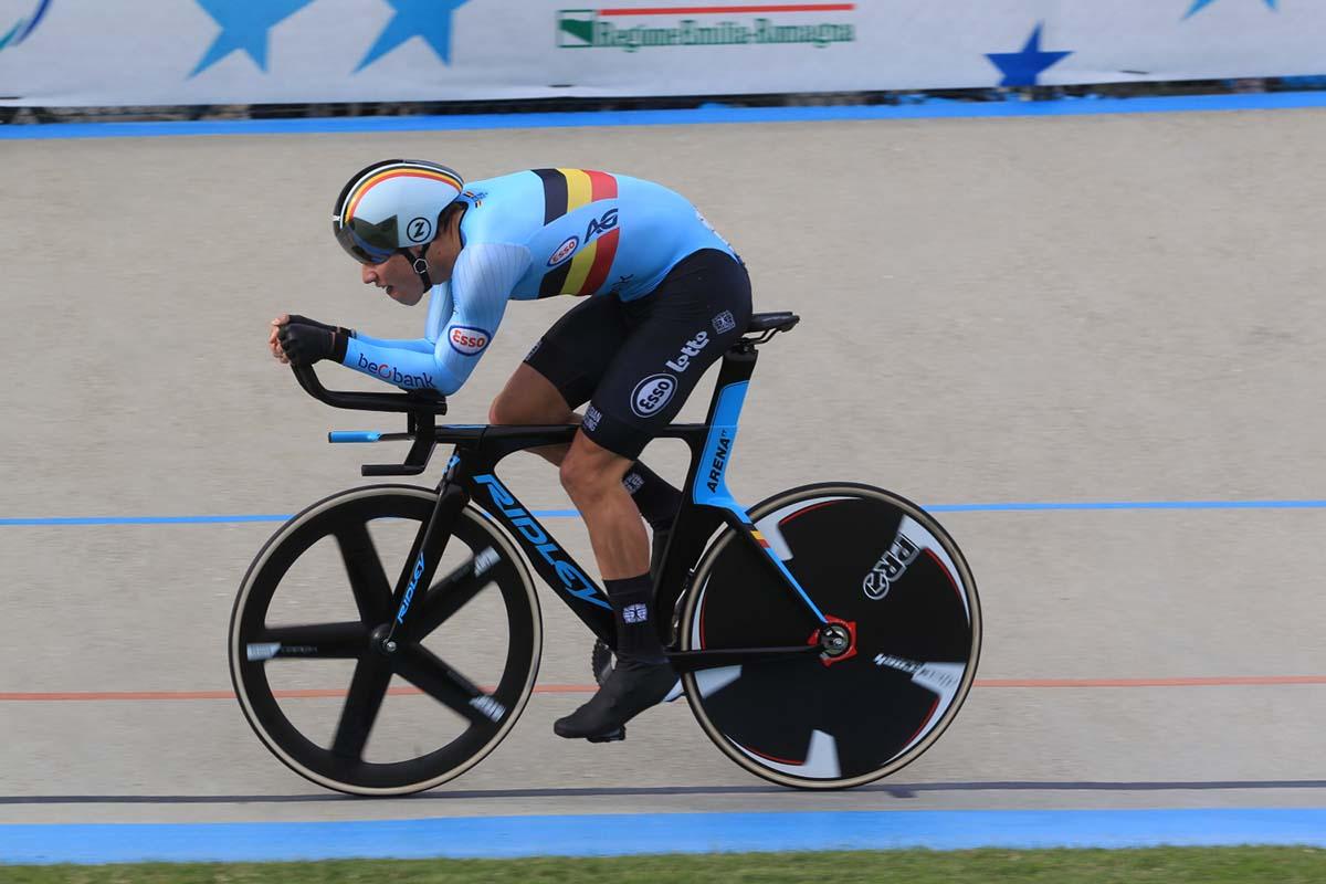 Il belga Noah Vandenbranden vince l'Europeo del km cronometro Juniores (foto Fabiano Ghilardi)