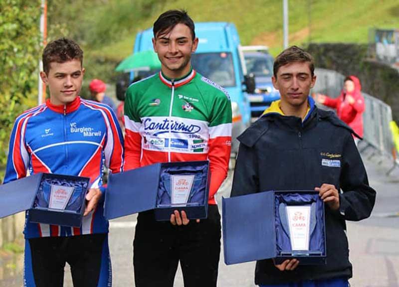 Il podio del Gran Premio di Cama vinto da Andrea Montoli