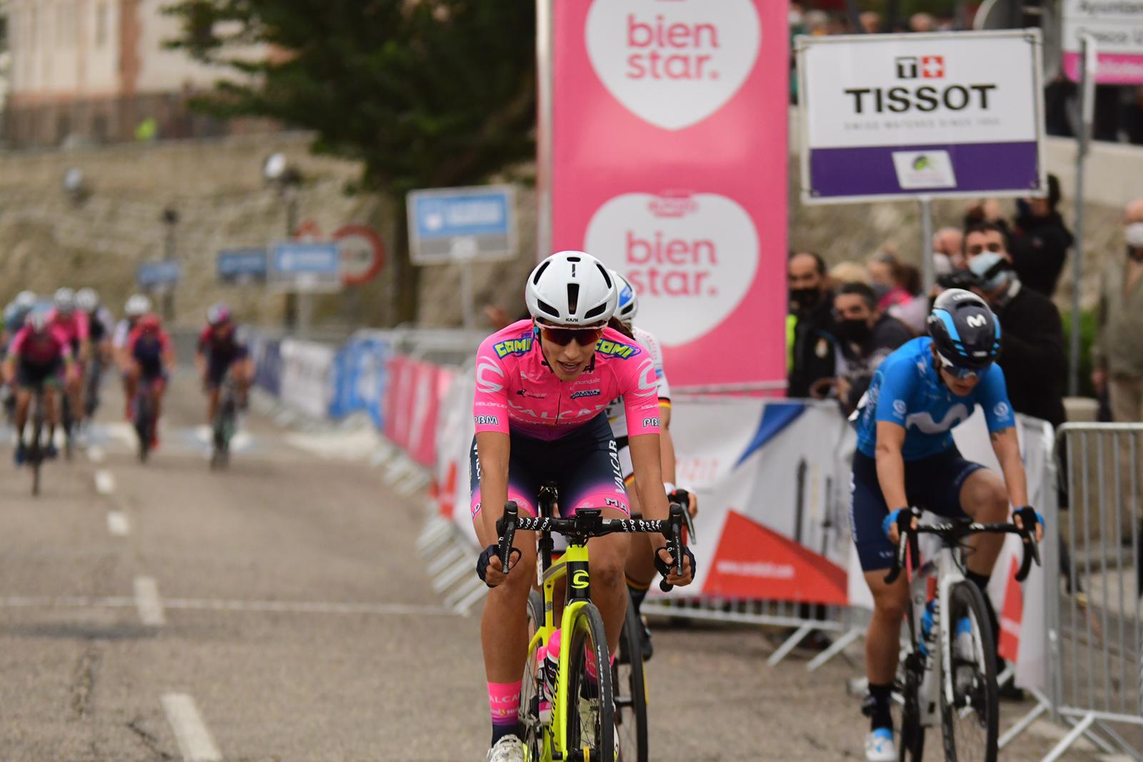L'arrivo di Elisa Balsamo nella prima tappa della Madrid Challenge by La Vuelta (foto Twila Muzzi)