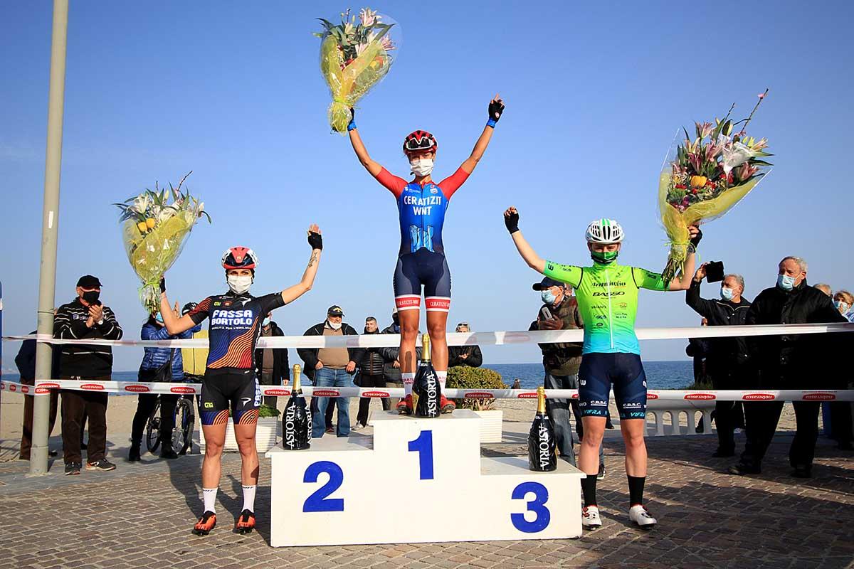 Il podio del 1° Trofeo Città di Ceriale (foto F. Ossola)