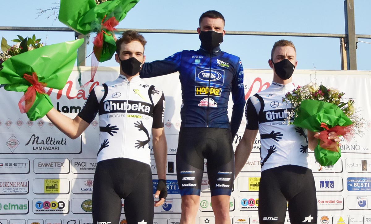 Il podio della Firenze-Empoli 2021 (foto Rodella)