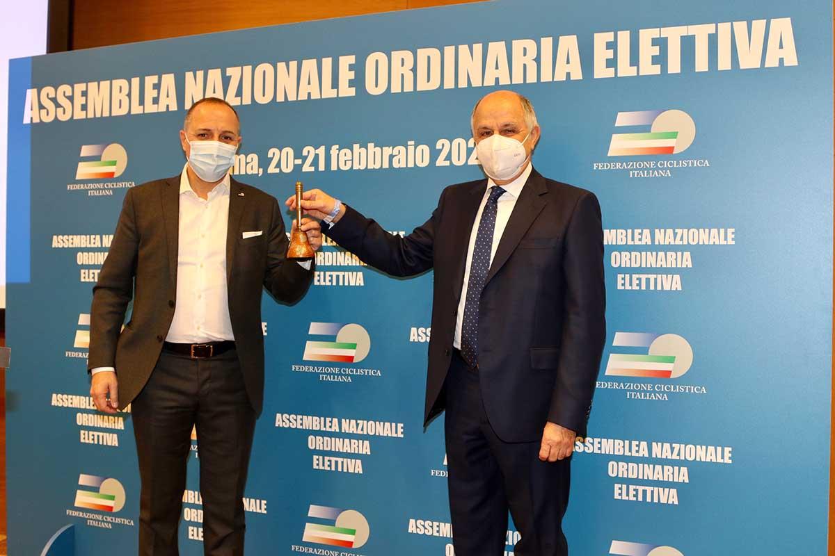 Cordiano Dagnoni e il presidente uscente Renato Di Rocco (foto Photobicicailotto)