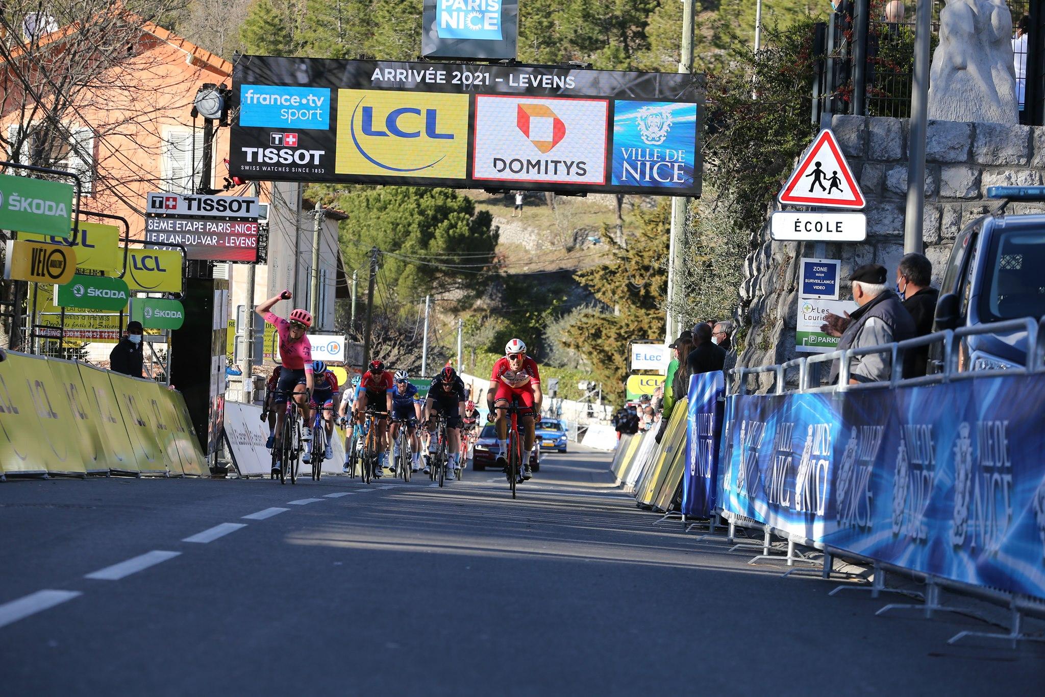 Magnus Cort Nielsen vince l'ottava e ultima tappa della Parigi-Nizza 2021 (foto ASO / F. Boukla)